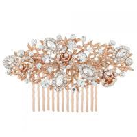 Rose Gold Bridal Comb - Wedding Hair Comb - Rose Gold ...