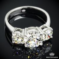 Platinum 3 Stone Engagement Ring (Setting Only) #2477220