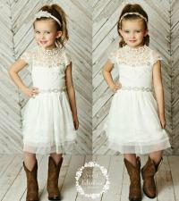 Stunning Flower Girls Dress,rustic Flower Girl Dress