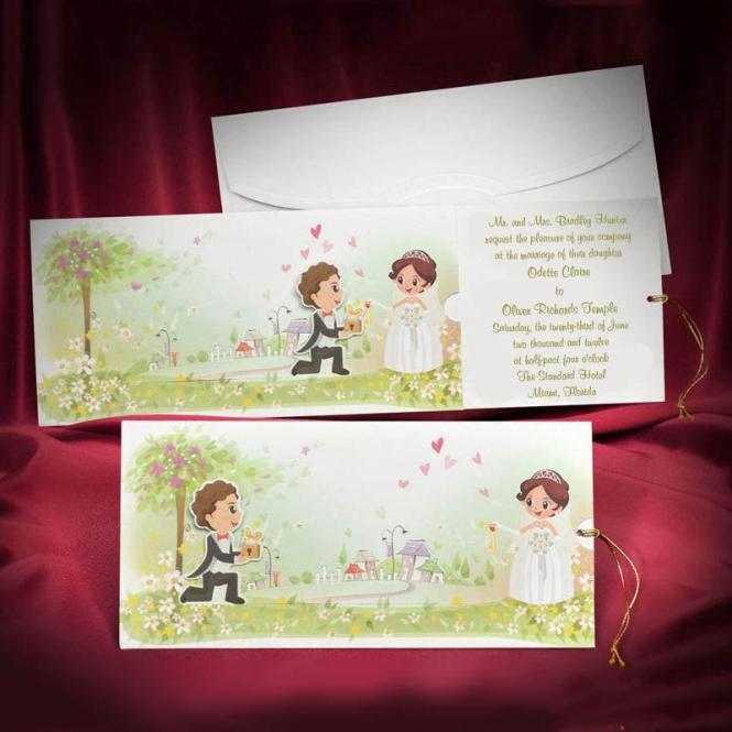 Funny Wedding Invitation Card Custom Personalized Green