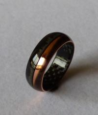 Jewelry - Carbonfiber & Copper Ring Wedding Band #2478817 ...