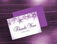 DIY Printable Wedding Thank You Card Template #2480709 ...