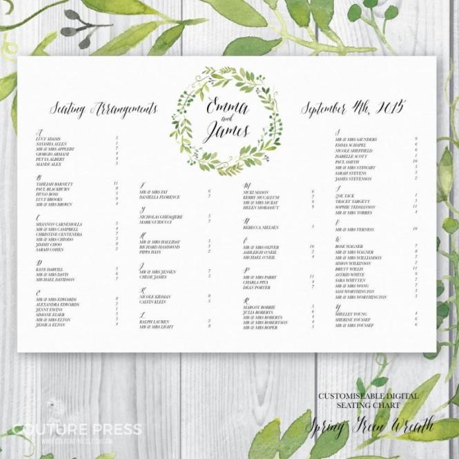 Doc.#736541: Wedding Seating Chart Printable – 17 Best Ideas About