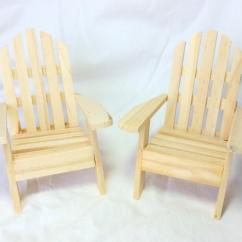 Unfinished Adirondack Chair Baby Shower Chairs For Mom To Be Wedding Diy Cake Toppers Wooden Set Of Two 2