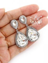 Wedding Earrings Swarovski Crystal Rhinestone Earrings ...