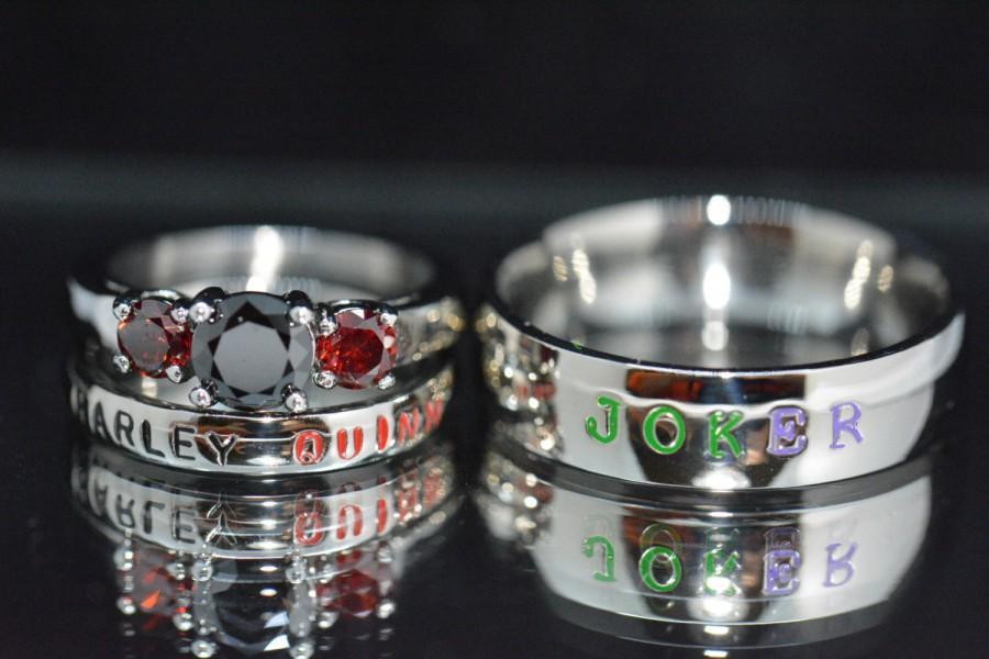 harley and joker rings