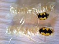 Ivory Batman Wedding Garter Set - Plus Size Available ...