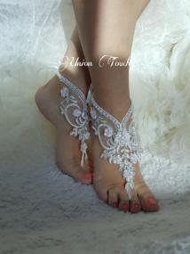 Lace Beach Wedding Sandals