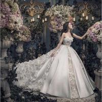 2016 Sweetheart Sleeveless Wedding Dresses Organza/Satin ...