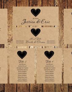Wedding seating chart editable text rustic kraft template download instantly digital pdf you print diy also rh weddbook