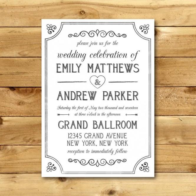 printable vintage wedding invitations, Wedding invitations
