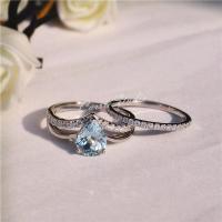 CarrieStudio Natural Aquamarine Ring Set Aquamarine ...