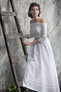 Country Linen Wedding Gown Dream Dress Rustic Wedding ...