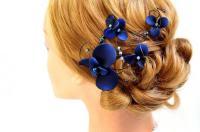 Navy Blue Fascinator Bridesmaids Navy Head Piece Wedding ...
