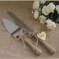 Wedding Cake Server Set And Knife Rustic Wedding Cake