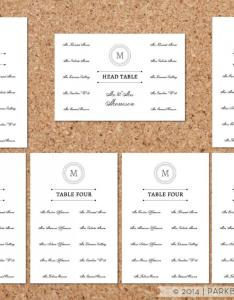 Seating chart template classic monogram design diy editable word instant download printable also rh weddbook
