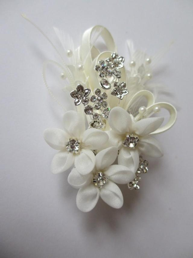 floral hair comb - forget me not, bridal hair combs, wedding