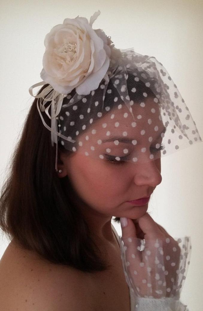handmade wedding hair accessories bridal veil flower