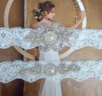 Pearl Wedding Garter, Crystal Bridal Garter Set, Vintage ...