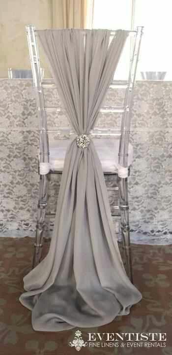 wedding chair covers for bride and groom kidkraft avalon table set white chiffon sash chairs