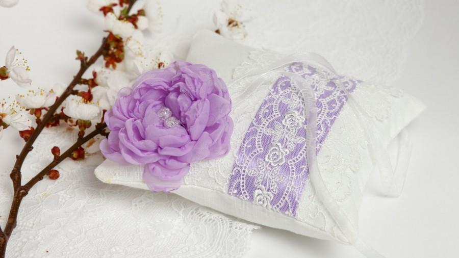 Purple Ring Pillow Purple Ring Bearer Pillow On White