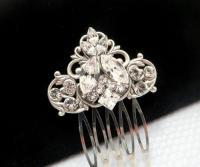 Antique Silver Hair Comb, Bridal Hair Comb, Wedding ...