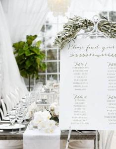 Custom designed wedding seating chart simple elegant for your special event also rh weddbook