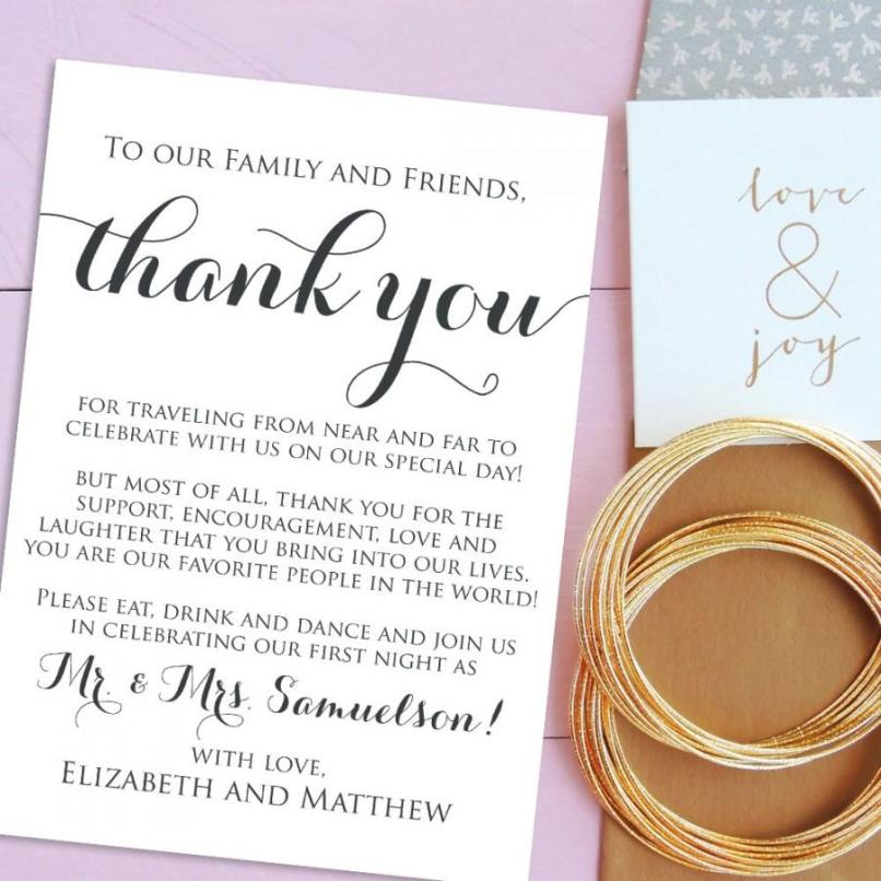 thanks letter for wedding invitation | Invitationjdi.co