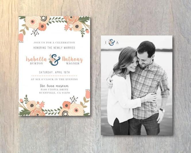 Rustic Wedding Reception Invitation