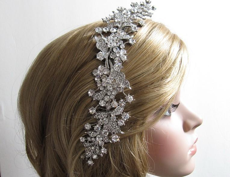 large bridal hair comb wedding comb bridal hair jewelry wedding hair comb bridal headpiece wedding hair accessory rhinestone bridal comb