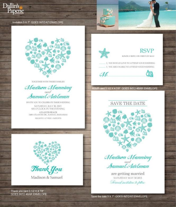 Beach Wedding Invitation Printables Destination
