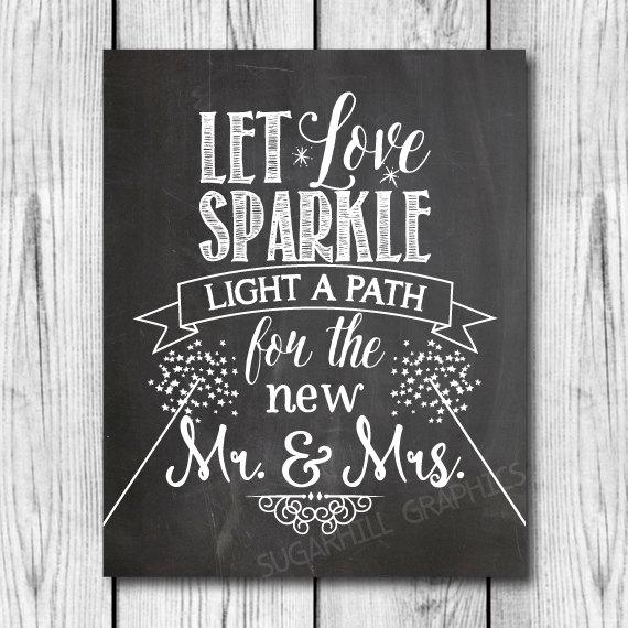 Chalkboard Wedding Sign, Printable Wedding Sign