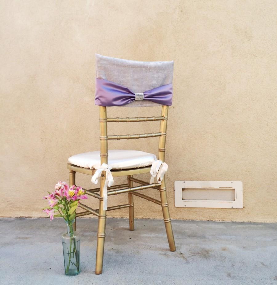 wedding chair covers lilac green slipcover bridal cover velvet elegant lavender crystal bow decor