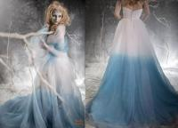 Frozen Ombre Blue Wedding Dress With Crystal Detail ...