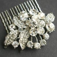 Rhinestone Vintage Bridal Hair Comb, Crystal Wedding Hair