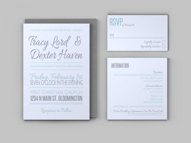 Casual Wedding Invitation Set