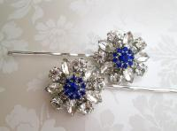 Wedding Hair Pins, Blue Bobby Pins, Something Blue, Hair ...