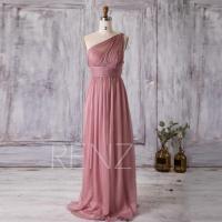 2016 Dusty Rose Bridesmaid Dress Long, Chiffon Maxi Dress ...