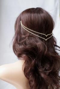 Head Chain - Crystal Hair Jewellery - Wedding Accessory ...