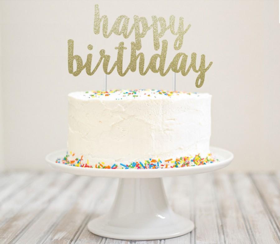 Dekor  Happy Birthday Glitter Cake Topper 2505167  Weddbook
