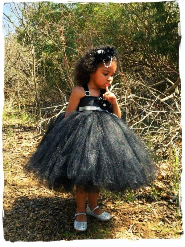 Little Black Dress Flower Girl Tutu