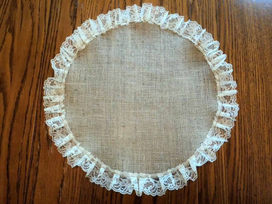 burlap and lace round