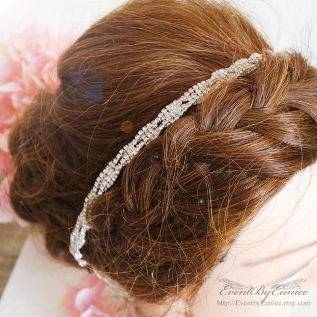 bridal headpiece, wedding headpiece, bridal headband