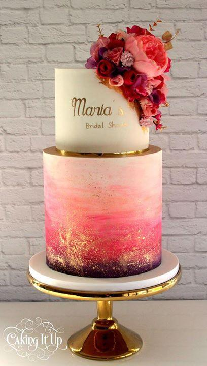 20 Eye Catching Water Color Quinceanera Cakes 2509947 Weddbook