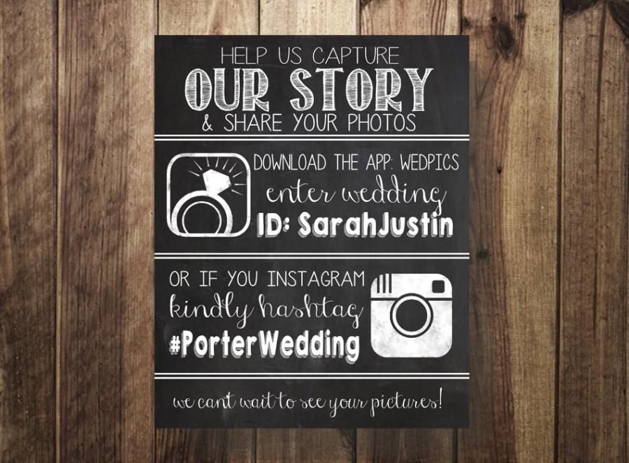 Wedpics And Instagram Hashtag Sign Wedding Hashtag Instagram Wedpics Rustic Wedding