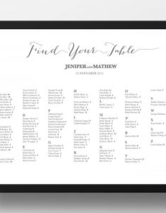 Printable seating chart poster template also invitation weddbook rh