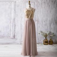 2016 Light Gold Bridesmaid Dress, Spaghetti Strap Wedding ...