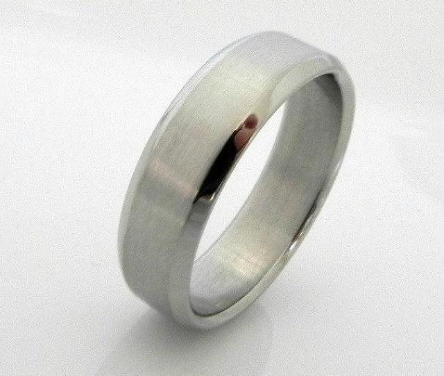Revivify Steel Ring Wedding Band Mens Steel Wedding Ring Stainless Steel Ring Wedding Ring Beveled Ring Promise Ring