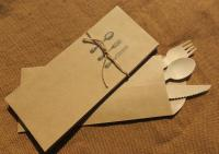 Kraft Silverware Envelope Flatware Sack Cutlery Bag Pouch ...