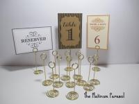 ANTIQUE GOLD Ring Style Table Number Stand, Card Holder ...